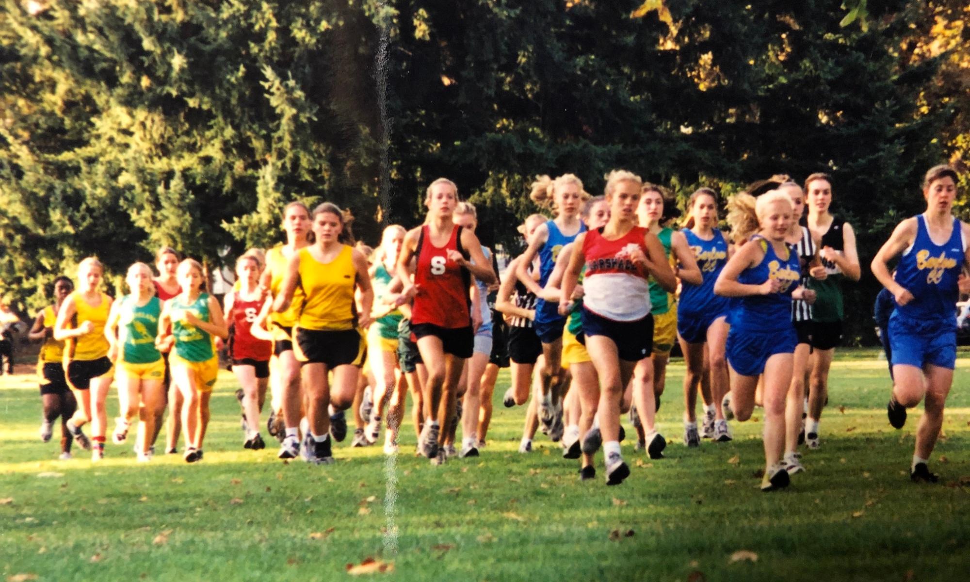 girls running – Elizabeth W. Carey